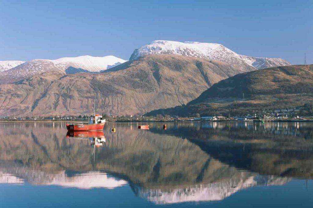 Ben Nevis in Scotland is one of the ten most beautiful places in the UK.
