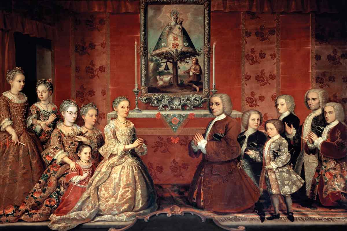 Photo of a painting of some eighteenth-century nobles