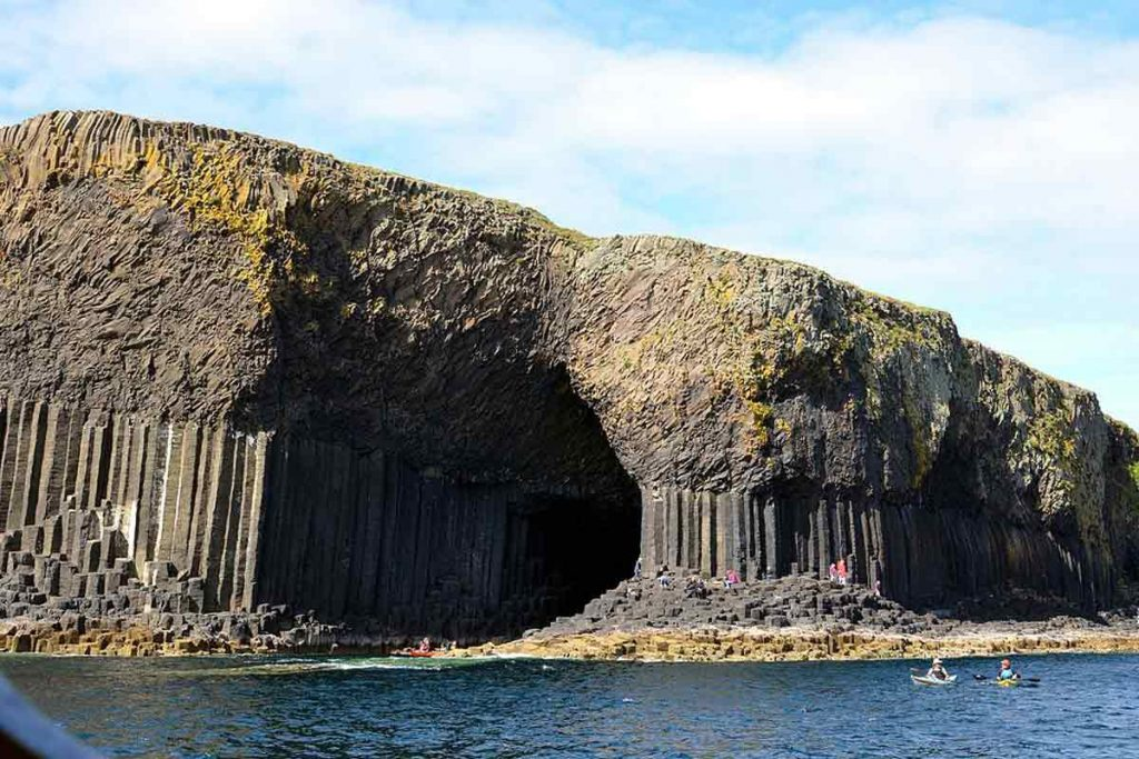 The Fingal's Cave in Isle of Staffa is one of the best natural wonders in the UK.