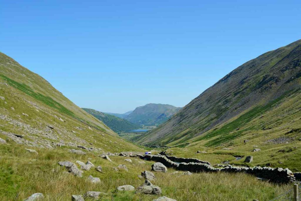 Kirkstone Pass in Lake District, one of the ten most beautiful places in the UK.