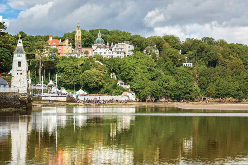 Portmeirion Village is one of ten most beautiful places in the UK