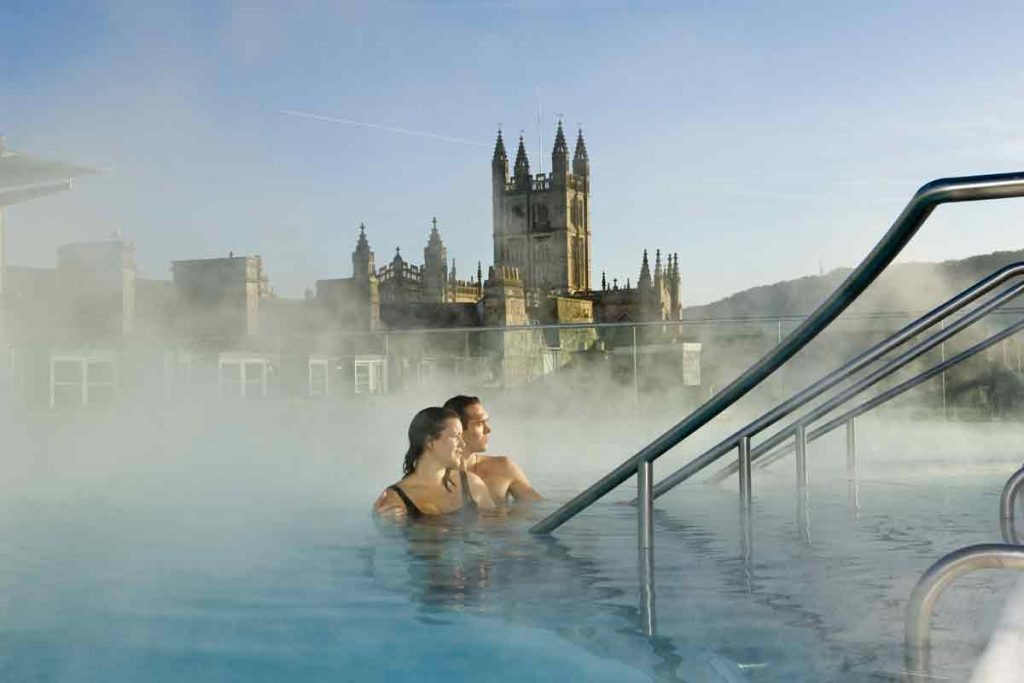 Thermae Bath Spa in Bath is one of the ten most beautiful places in the UK.