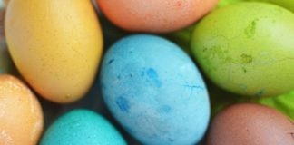 Photo of coloured Easter eggs