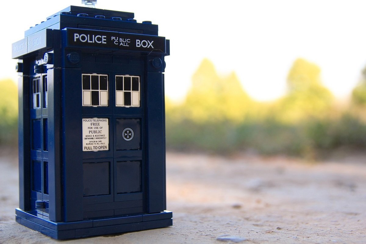 Photograph of the TARDIS from Doctor Who