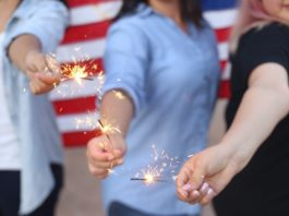 Photo of people with sparklers