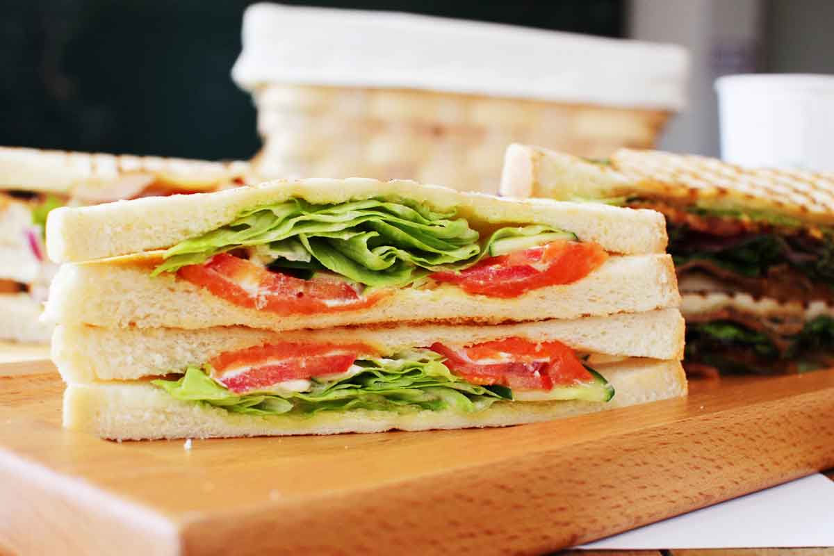 Photograph of a sandwich