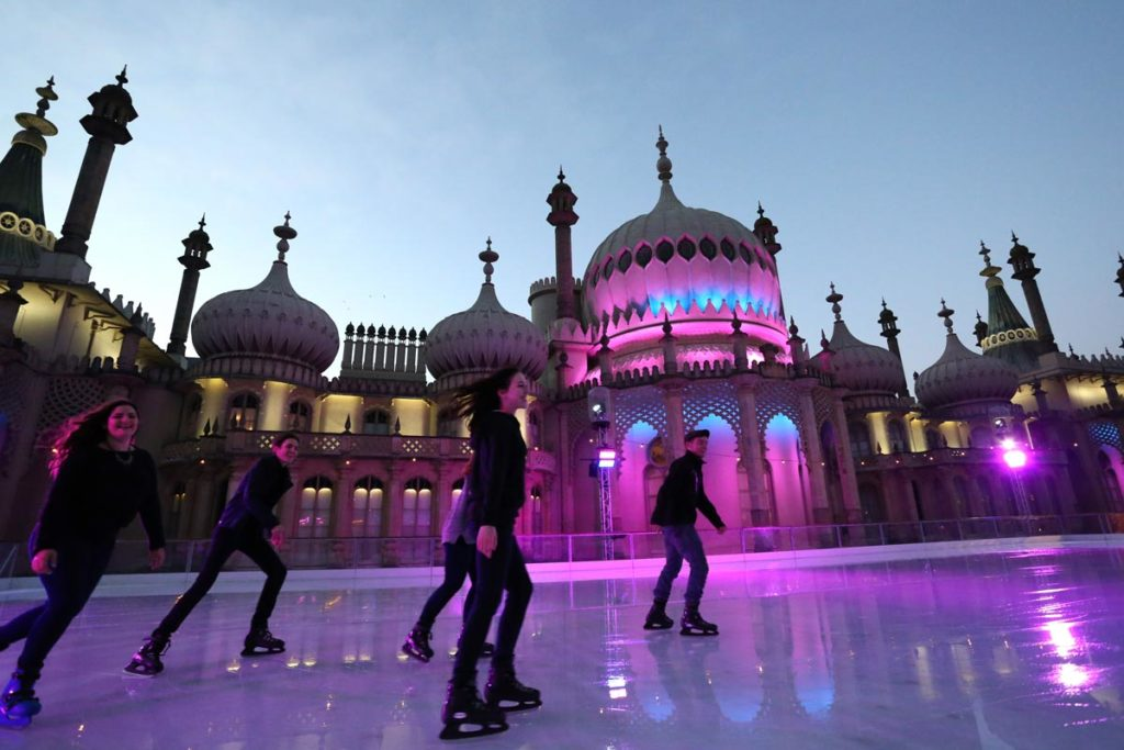 Royal Pavilion in Brighton is one of the best places to ice skate in the UK