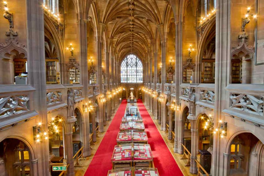The John Rylands Library is one of the oldest buildings in the city.