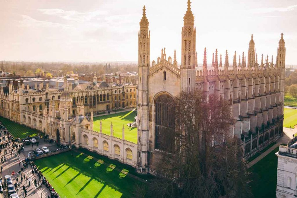 University of Cambridge is one of the most beautiful universities in Britain.