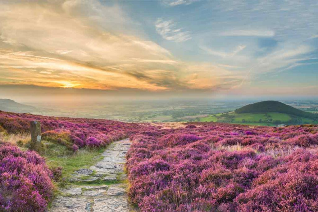 Cleveland Way in North Yorkshire is one of the ten most beautiful places in the UK