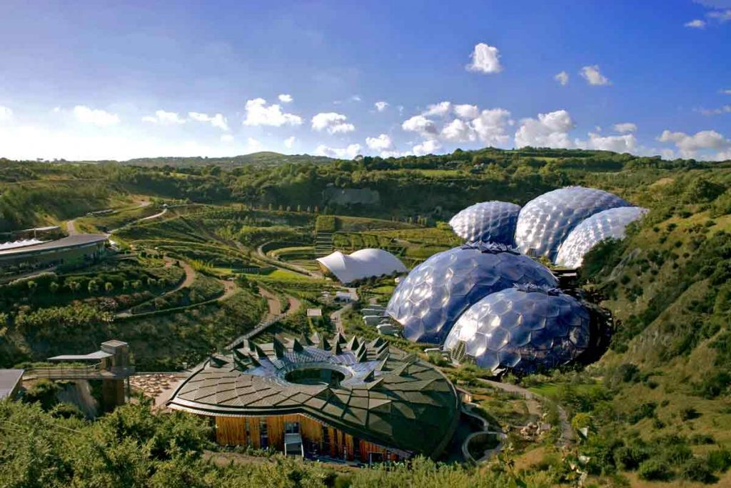 Eden Project in Cornwall is one of the most beautiful places in the UK.