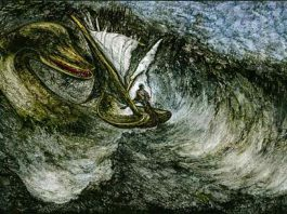 An illustration of Nessie, the monster in Loch Ness. Loch Ness may be one of the things you may not know about the UK.