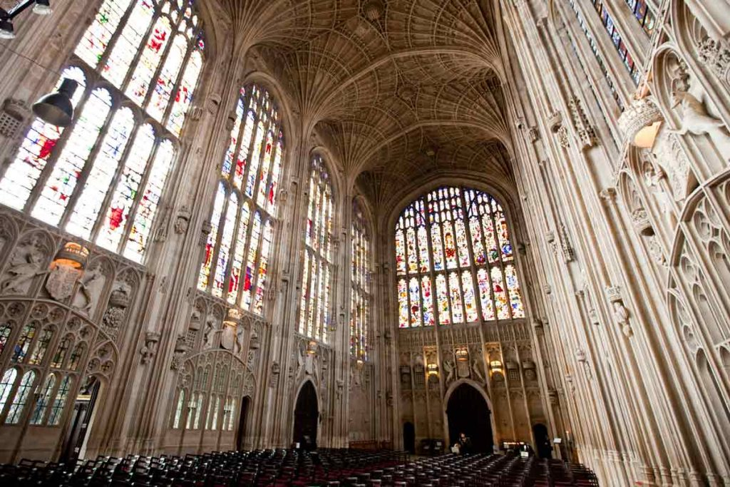 The King's College Chapel is one of the highlights in our guide to Cambridge.