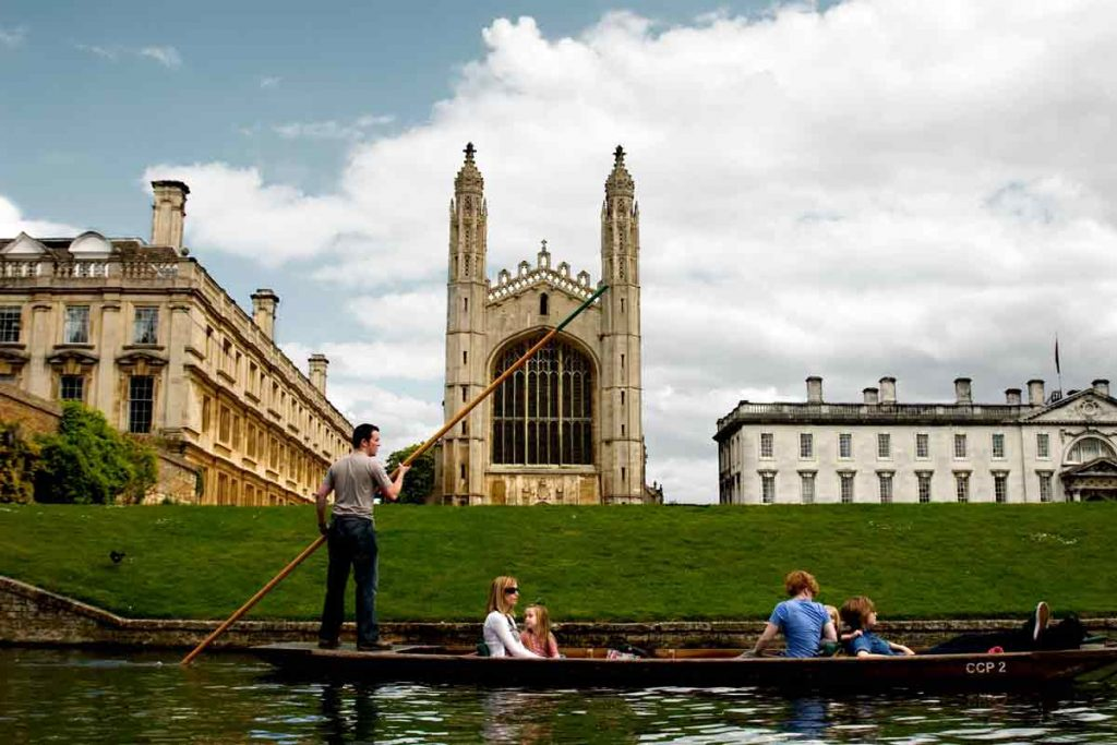 You can't come to Cambridge without trying punting on River Cam.