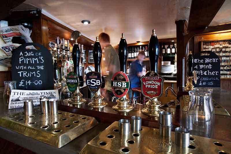 Pub culture is a big part of British culture. British pubs often serve a wide range of beer.