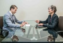 A young man doing a job interview, top tips for a job interview