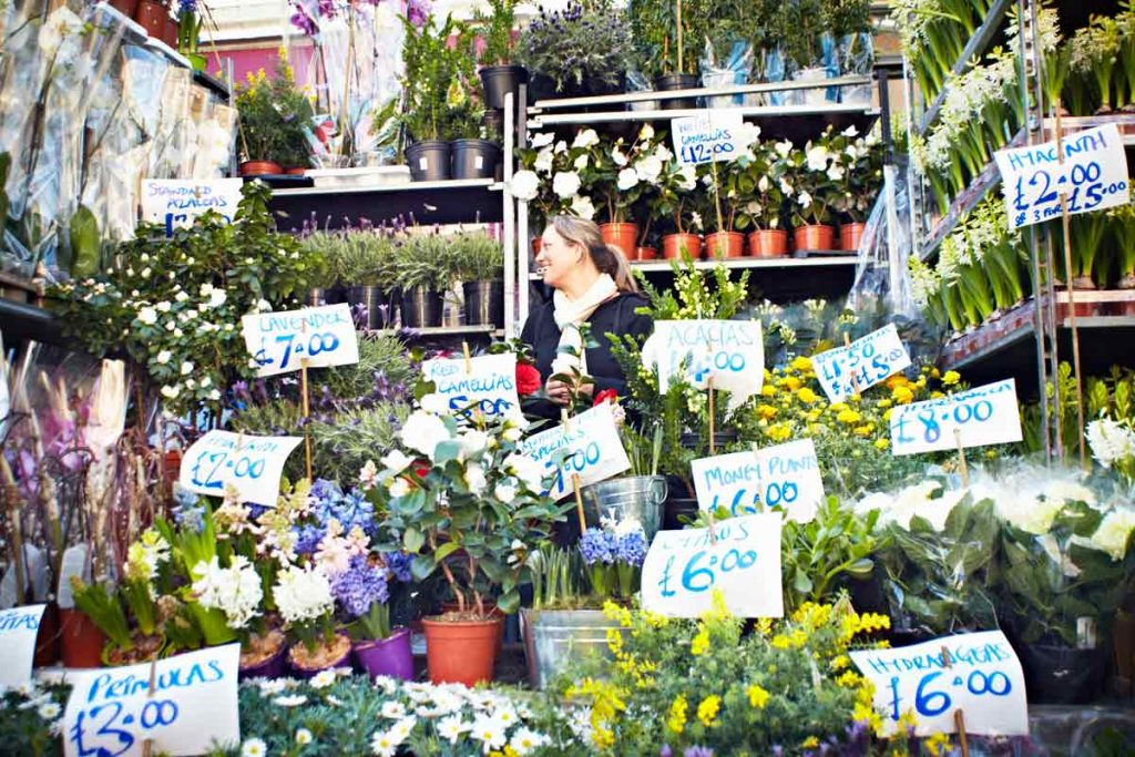 Columbia Flower Market is featured in our guide to London