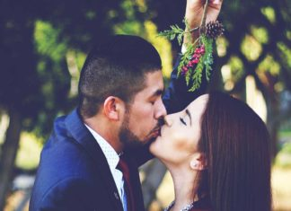 Why do people kiss under the mistletoe?