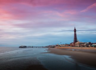 Blackpool Tower and beach