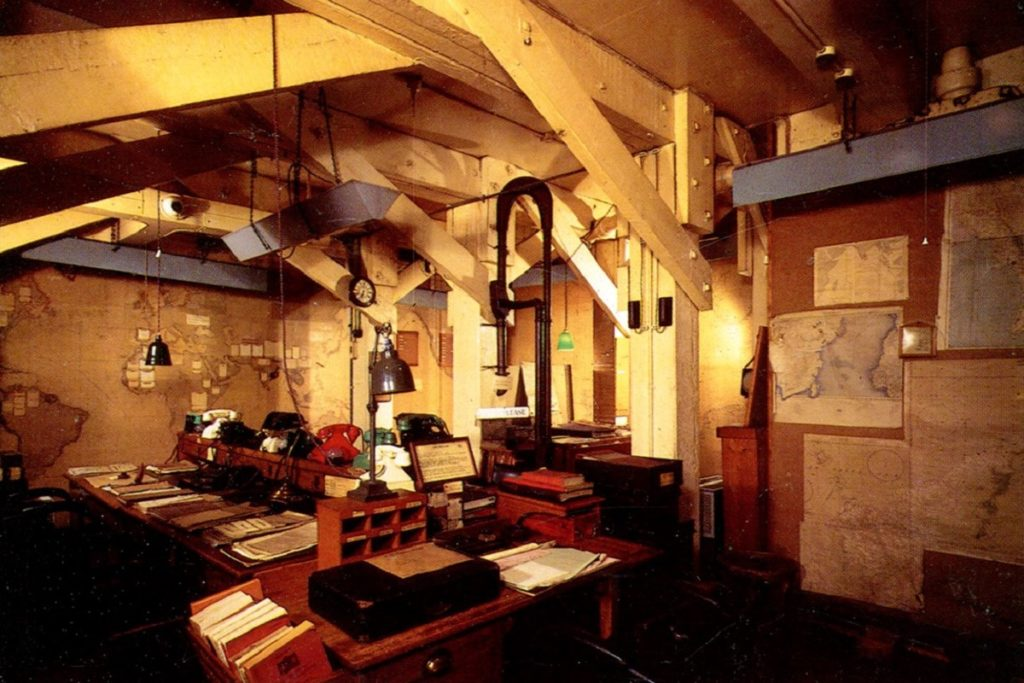 Photo of the planning room in the Churchill War Rooms