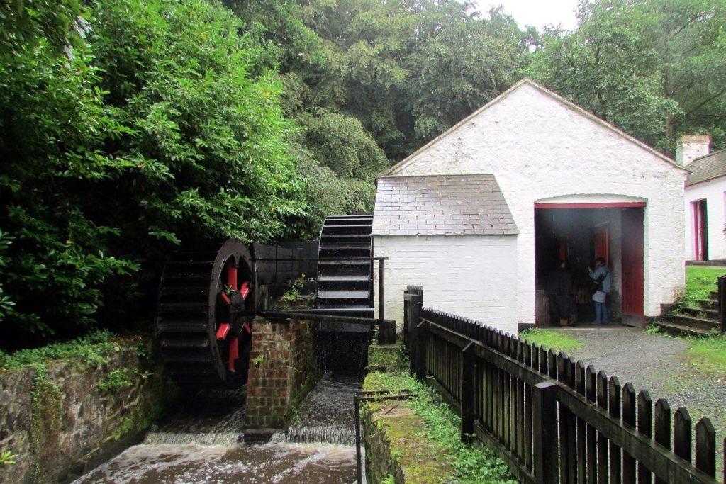 Photo of a water mill at the Ulster Folk Museum