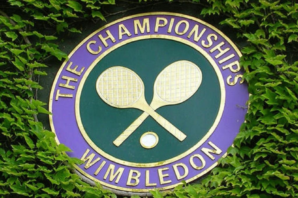 Photo of the Wimbledon Tennis Championships plate