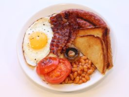 Photo of a traditional full English breakfast