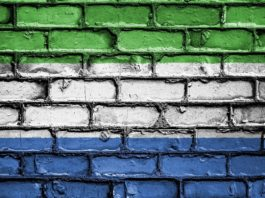 Photo of the Sierra Leonean flag
