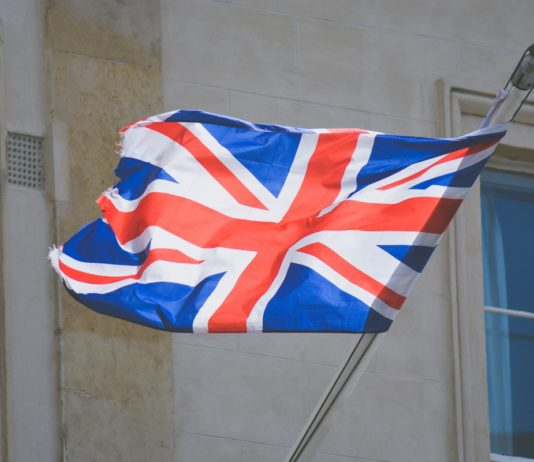 Photo of a British flag