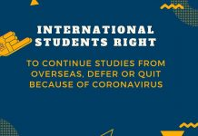 International students right to continue studies from overseas, defer or quit because of Coronavirus