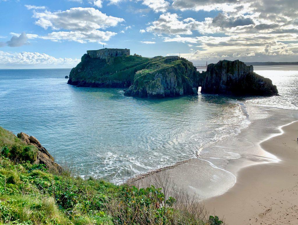 Castle beach in Tenby, wales