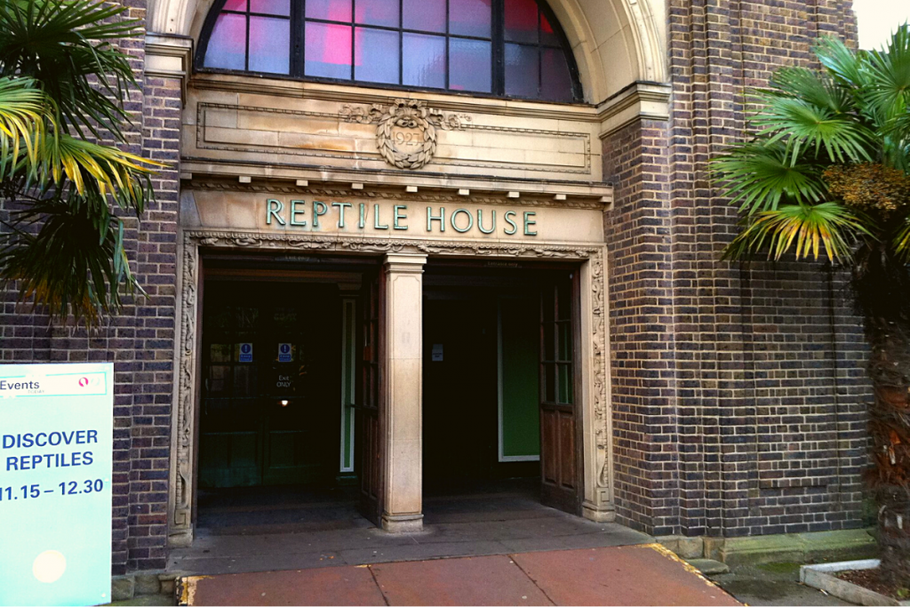 The exterior of reptile house, London Zoo