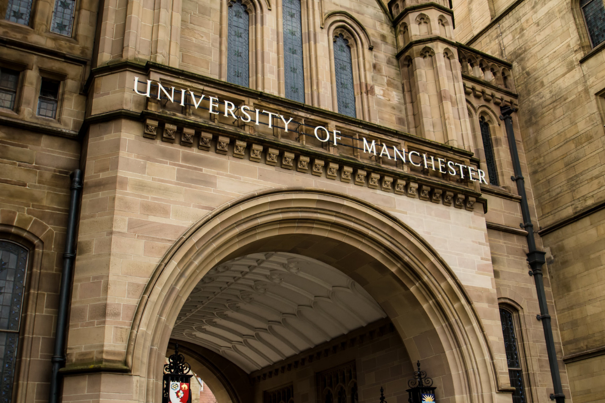 The outside of a university of Manchester building